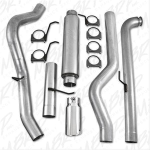 "MBRP Inc. S6004AL EC/CC 4"" Down Pipe Back, Single Side, Off-Road (includes front pipe), AL  2001-2007 Chevy/GMC 2500/3500 Duramax"