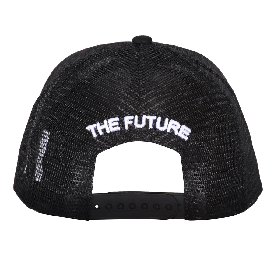 BLACK WHITE MESH CAP