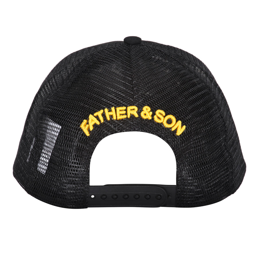 BLACK YELLOW MESH CAP
