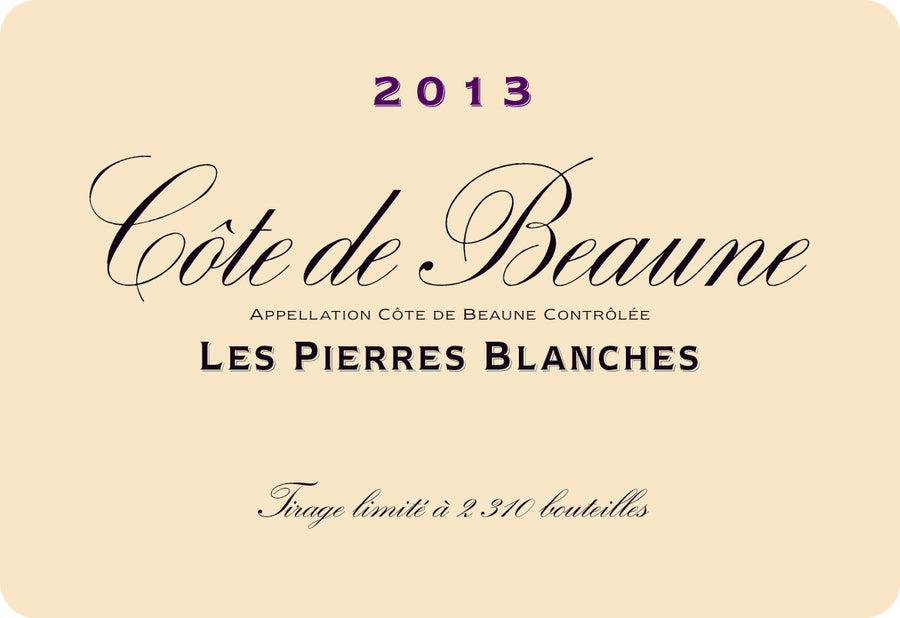 2017 Cote de Beaune Pierres Blanches Blanc Vougeraie  6 bottles in bond