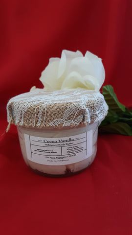 Cocoa Vanilla~All Natural Whipped Body Butter (Homemade)8oz