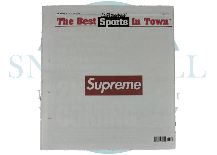 Supreme x New York Post Newspaper