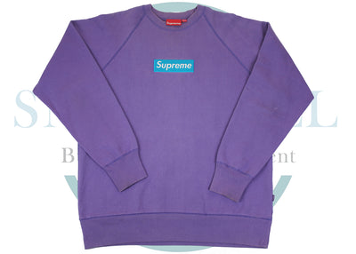 Supreme Teal Purple Box Logo Crewneck (USED)