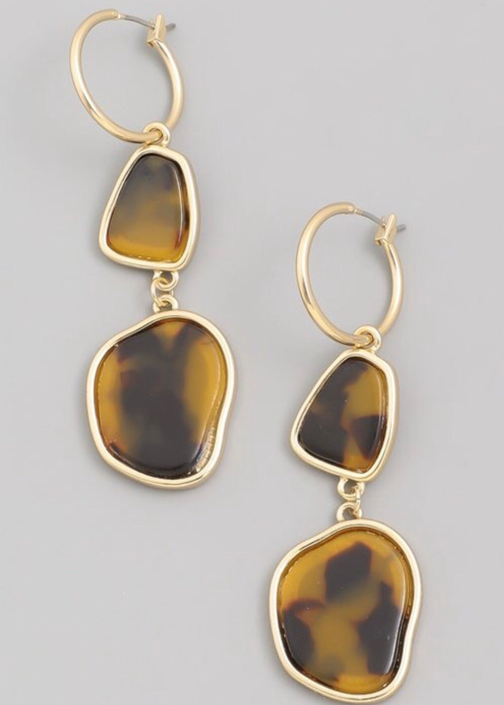 Lea Leopard Hoop Earrings