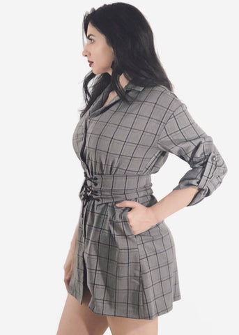 Check the Box Shirt Dress