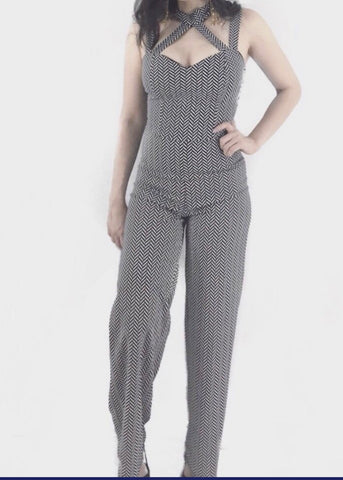 Chevron Jumpsuit