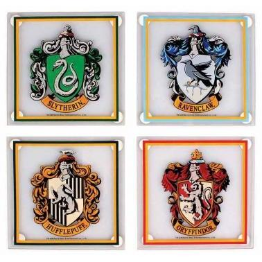 Harry Potter Coaster Set Of 4 (Glass) - Houses