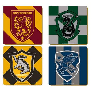 Harry Potter Coasters (Set of 4) - Varsity Crests, Poptastic, Funko Pop UK, Funko Pop Vinyl, Weston Super Mare, Pop Vinyl