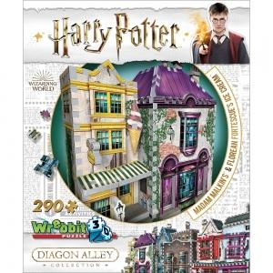 Harry Potter 3D Puzzle - Diagon Alley Collection - Madam Malkins & Florean Fortescues, Poptastic,