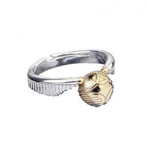 OFFICIAL HARRY POTTER STAINLESS GOLDEN SNITCH RING-Poptastic Weston Super mare