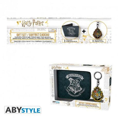 Harry Potter Hogwarts Crest Wallet and Keyring Gift Set