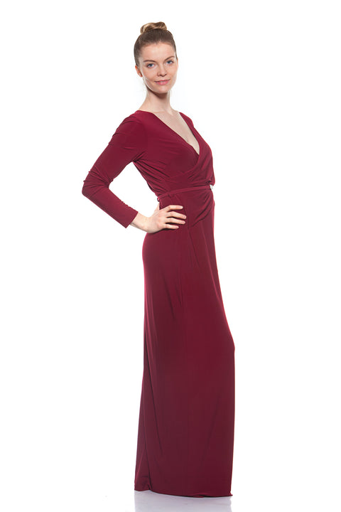 Ralph Lauren - Berry Maxikleid