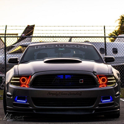 2013-2014 Ford Mustang Color Chasing LED Halo Kit - LitLightz.com