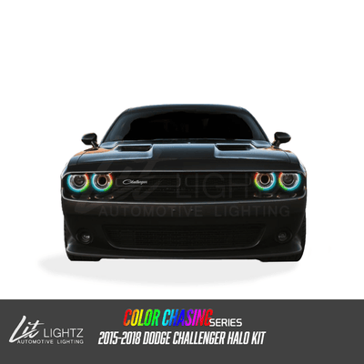 2015-2018 Dodge Challenger Color Chasing LED Halo Kit - LitLightz.com