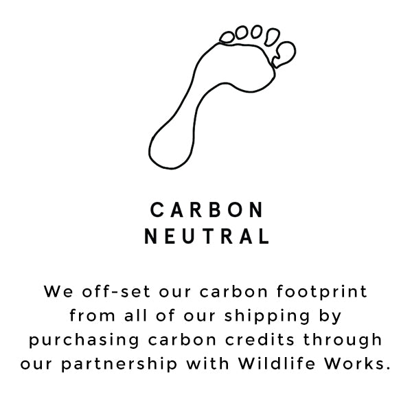 Raven + Lily off-sets a carbon footprint with carbon credits through a partnership with Wildlife Works