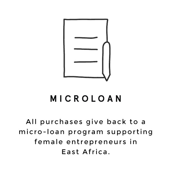 Raven + Lily purchases give back to a program supporting female entrepreneurs in East Africa