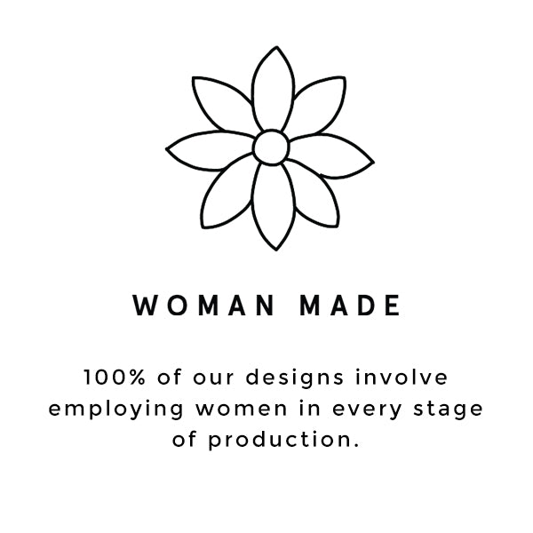 100% of Raven + Lily designs involve employing women in every stage of production