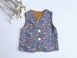 Liberty Merino Vest-Dancing With Stag Mustard