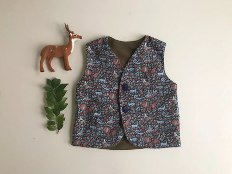 Liberty Merino Vest-Dancing With Stag Khaki