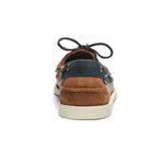 PORTLAND THREE EYES LEATHER SUEDE - BLUENAVY/COGNAC/DK BROWN