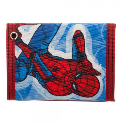 Spiderman Homecoming Tri-Fold Velcro Wallet with Rubber Patch