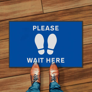 Social Distancing Mats - Please Wait Here