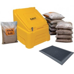 200 Litre Grit Bin Kit - Lockable and Including FootBath Grit Remover Mat
