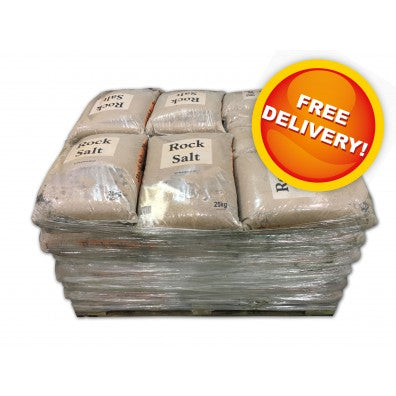 Brown Rock Salt - Pallet of 42 Bags
