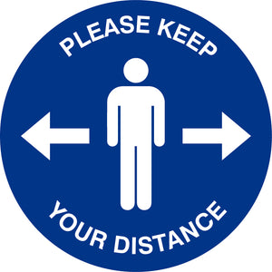 Social Distancing Floor Stickers - Please Keep Your Distance