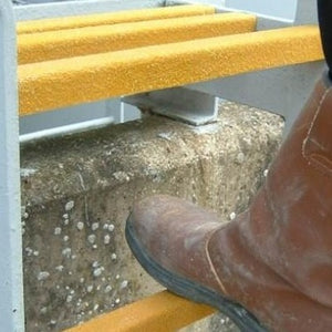 GRP Ladder Rung Covers - Improve Traction on Slippery Rungs