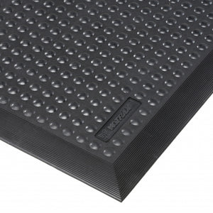 ServiceMat Black - Ergonomic Rubber Mat with Moulded Edges