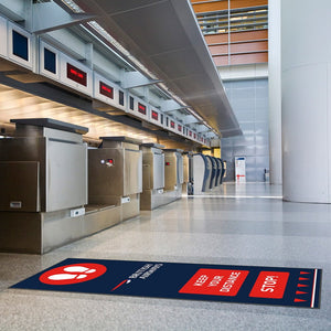 Branded Social Distancing Floor Mats - Promote Your Logo To Your Customers