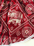 Red Elephant Pom Pom Shorts Indian with Lace Detail