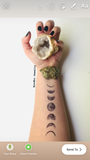 Moon Phases Transition Forearm Temporary Tattoo