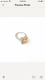 Pink Morganite Princess Cut Silver Ring