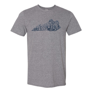 The Mountain Heritage Hand-Drawn Tee Grey