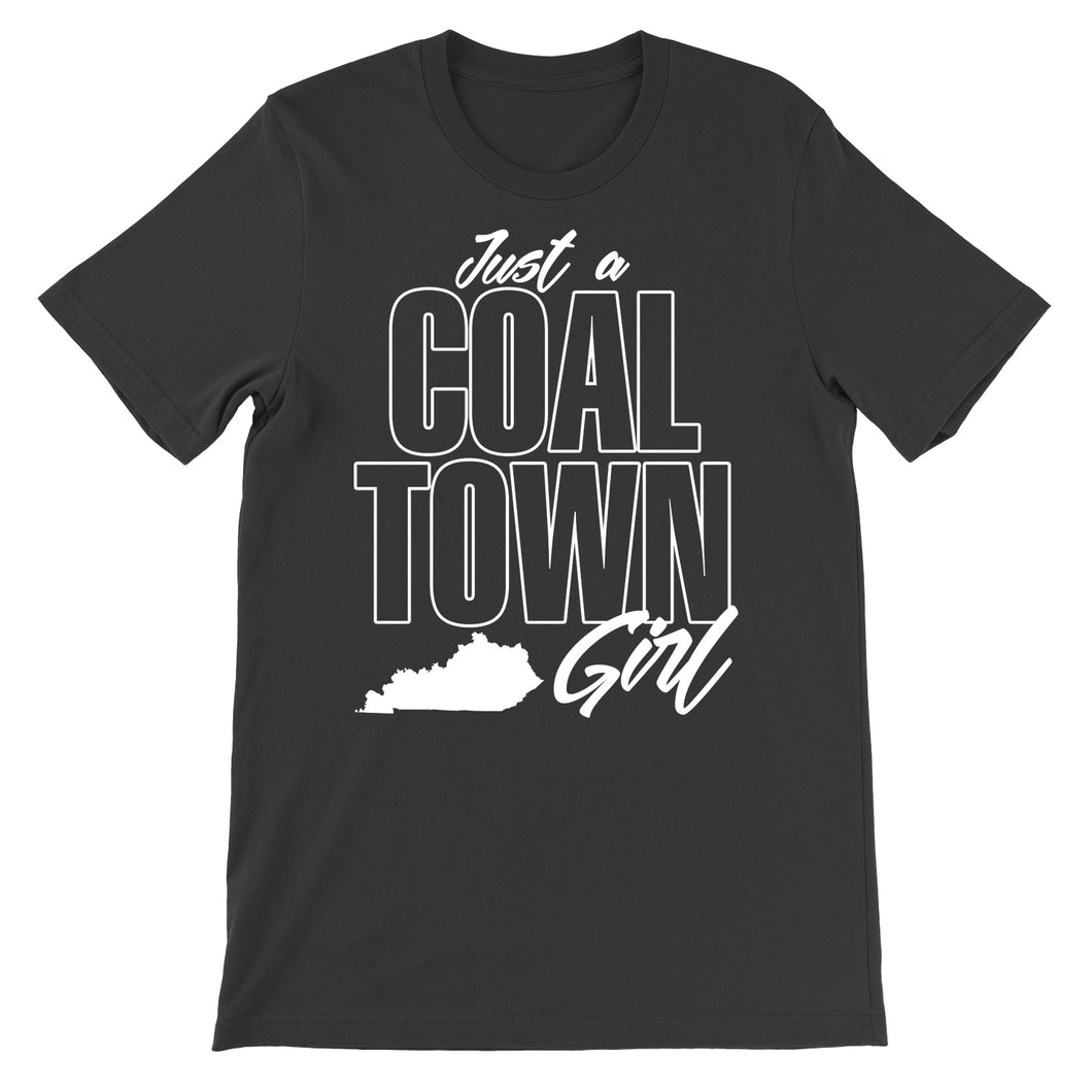 Coal Town Girl Black Tee Shirt Hill and Holler Mining Kentucky Eastern Mountains