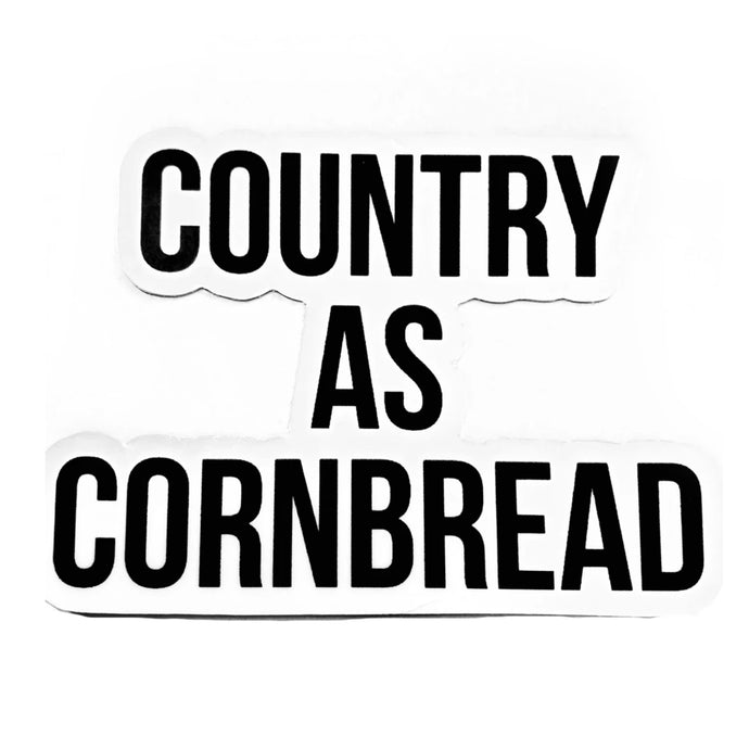 The Country as Cornbread Sticker