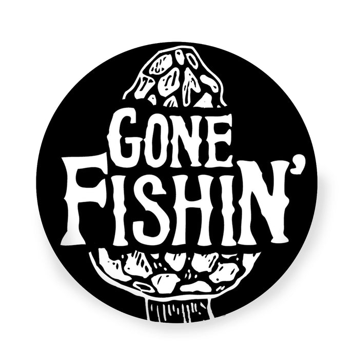 The Gone Fishing Vinyl Decal Sticker