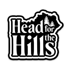 Head for the Hills Decal Sticker