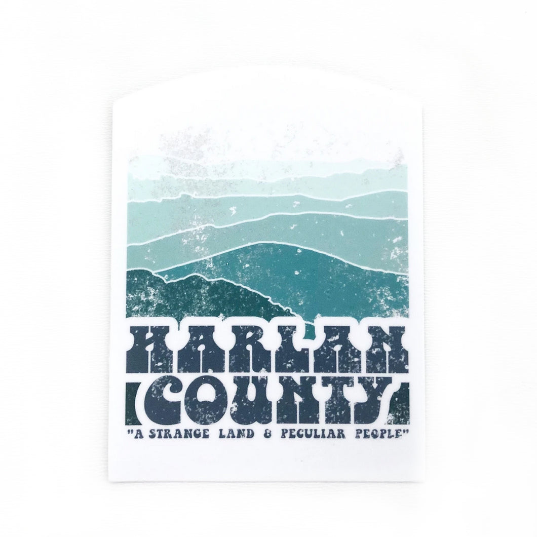 Strange Land and Peculiar People Harlan County vinyl Decal Sticker
