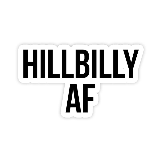 Hillbilly AF Decal Sticker