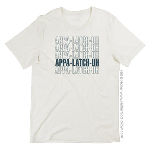Vintage white Hill and Holler APPA-LATCH-UH shirt