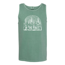 In the Pines Tank Hill and Holler Comfort Colors Overized Sage Green