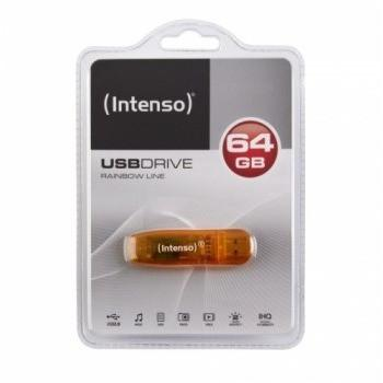 Intenso 64GB Rainbow USB2.0 64GB USB 2.0 Type-A Orange USB flash drive
