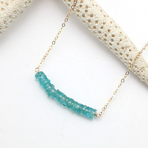 aqua bar gold necklace
