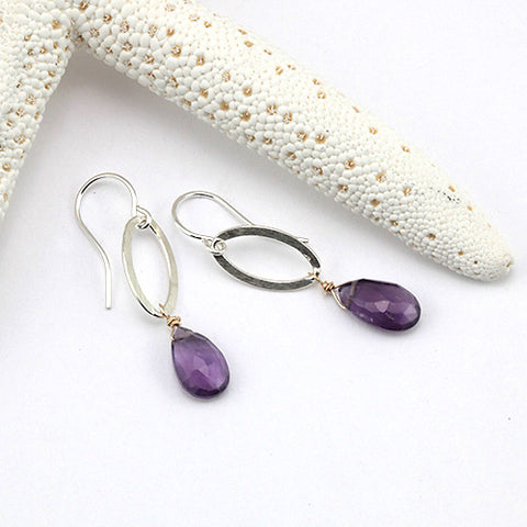 bellflower drop earrings