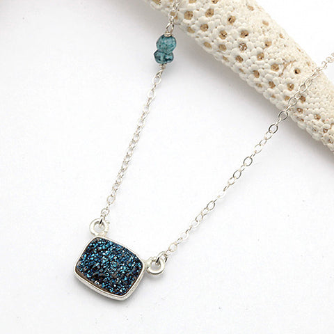 blue lightning necklace