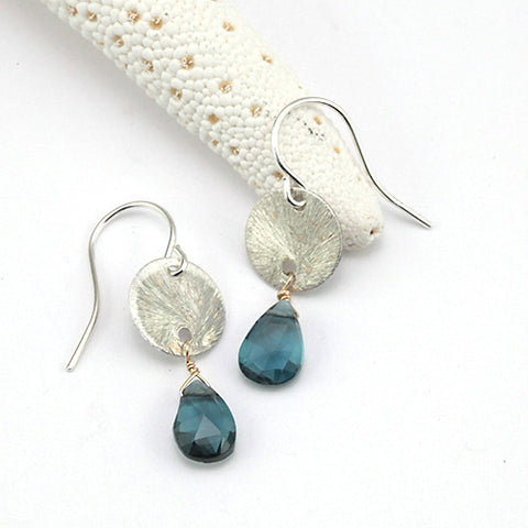 brushed sequin earrings
