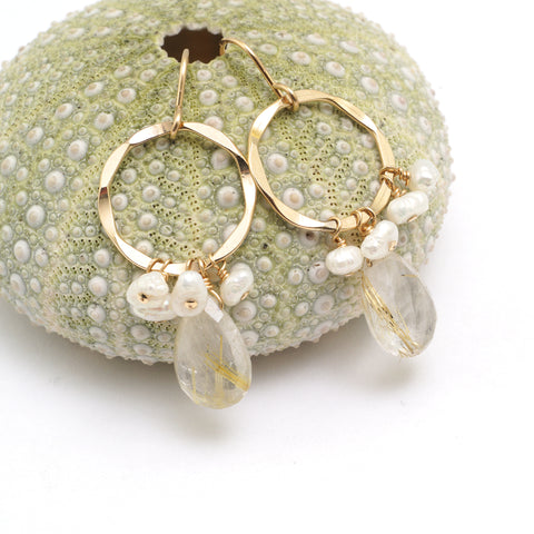 cottongrass earrings